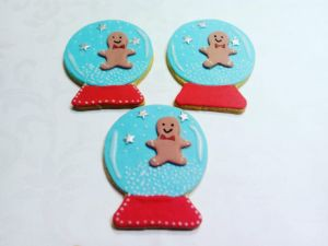 Christmas biscuits - Snow-Globe