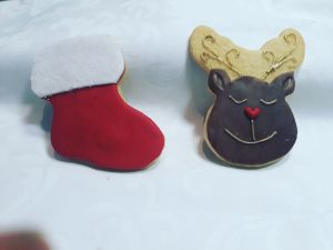 Christmas Stocking & Reindeer
