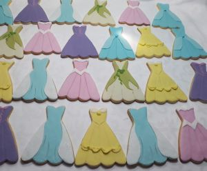 Princess dresses biscuits - A