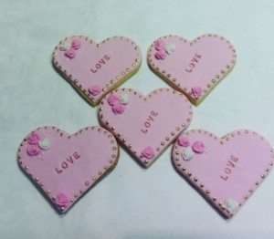 bridal shower biscuits - heart