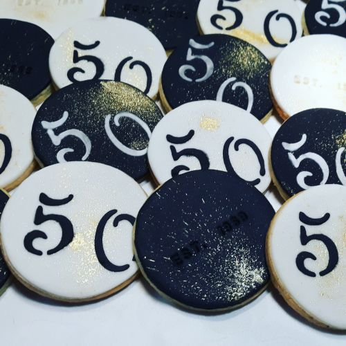 Homemade 50th Birthday biscuits 500