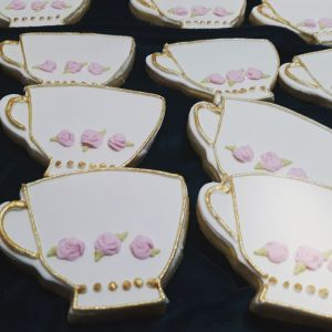 Homemade 60th Birthday teacup cookies 300