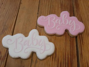 Homemade Baby Shower biscuits - cookies D 600
