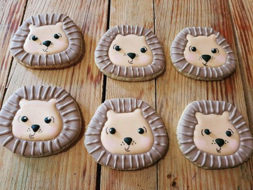 Homemade biscuits - Baby shower Lions 500