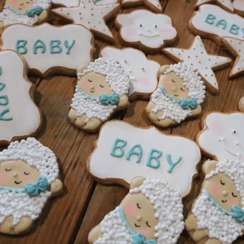 Homemade Baby shower cookies 600