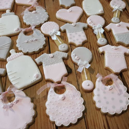 Homemade Baby shower cookies - biscuits 500