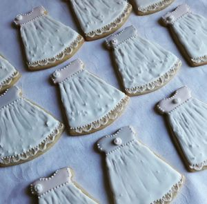 Homemade biscuits: Baby shower dresses 300