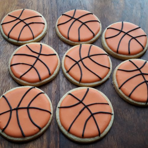 Homemade Basket ball biscuits cookies 500