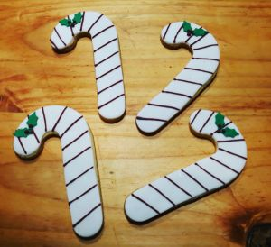 Homemade Candy cane Christmas biscuits 300