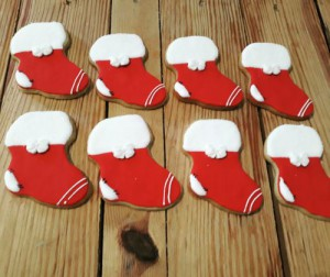 Christmas stockings 500  cookies / biscuits