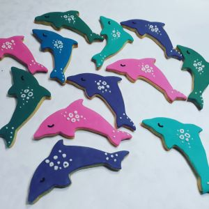 Homemade Dolphins childrens biscuits 300
