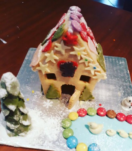 Edible Ginger Bread House Built from biscuits by Mila 6 Years 500