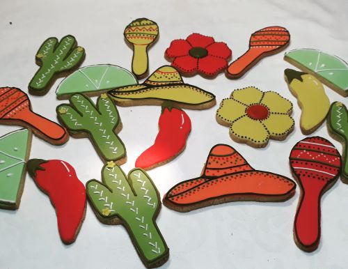 Homemade Festival themed Bridal Shower biscuits 500