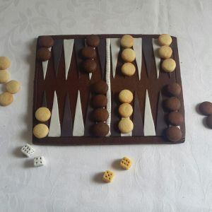 Homemade biscuits - Tyes birthday backgammon