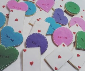 Homemade biscuits: Mad Hatters Baby Shower 300