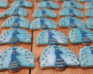 Peacock themed biscuits - cookies 500