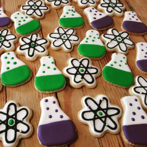 Homemade Science themed biscuits 500