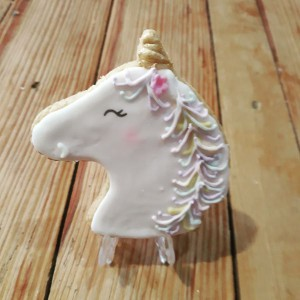 Unicorn topper cookie-biscuit  600