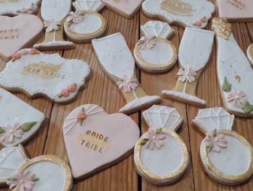 Homemade bridal shower cookies - biscuits  500