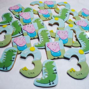 Homemade pepa pig kiddies biscuits